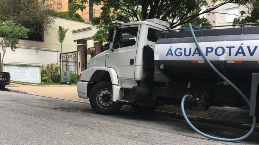 Caminhão Pipa para Condomínios na Zona Sul - em Santo Amaro, Vila Andrade, Brooklin, Campo Belo e arredores.